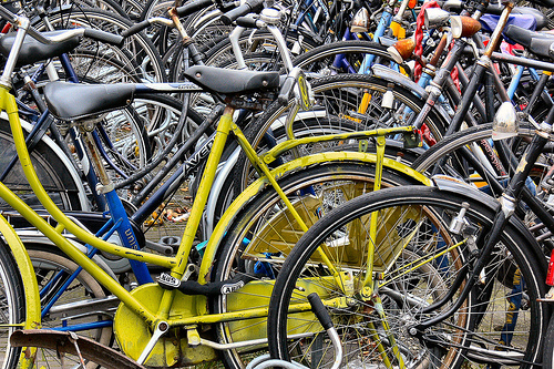 Group of bikes: by Pieter Musterd