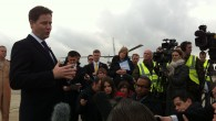 Deputy Prime Minister, Nick Clegg visited RAF Waddington today.