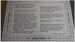 Plaque unveiled for 200th anniversary of George Boole